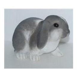 Садовая фигурка Длинноухий кролик серо-белый BJ112310V-6(Р2 С2)