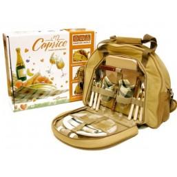 Набор для пикника CW Caprise в подарочной упаковке (на 2 персоны, цвет бежевый, романтический набор