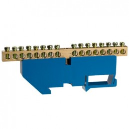 Шина СВЕТОЗАР нулевая на DIN-изоляторе, макс. ток 100А, 5,2мм, 16 полюсов