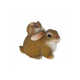 Садовая фигурка Зайчиха мама с зайчонком BJ092477(Р5 С5)