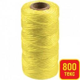 Шпагат STAYER многоцелевой полипропиленовый, желтый, 800текс, 60м
