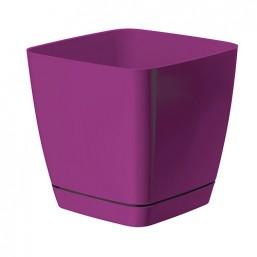Горшок TOSCANA квадрат 17 с  подд. фиолет (0733) Польша