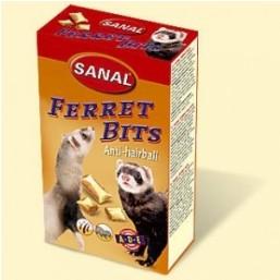 SF8040 SANAL (для хорьков) Ferret Bits 75г (6шт) (Хрустящие подушечки с мальт пастой, ТАУРИНОМ и Вит. A,D,E)