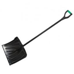 Лопата снеговая, 460х340мм, металл. черенок, морозостойкий пластик, стальн. окантовка// PALISAD