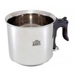 6204-S STAHLBERG Ковшик для молока 15х13 см - 1,5 л (нерж.сталь)