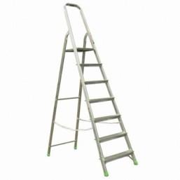 30216054 Ал. лестница-стремянка 7-х ступ, Н=1,45/3,50м  (Ам707) Алюмет