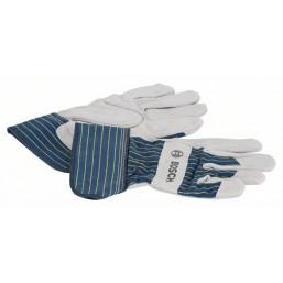 Защитные перчатки с вставками из бычьей кожи GL  SL 10, 1 пара