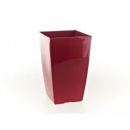 Кашпо Финезия 190х190мм, бордовый