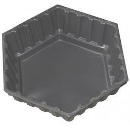 Клумба Шестигранник большой черная 90*90*30 см  (200 л)
