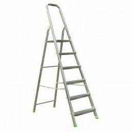 30216053 Ал. лестница-стремянка 6-х ступ, Н=1,24/3,30м  (Ам706) Алюмет