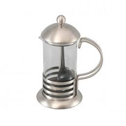 """7103М GIPFEL Стеклянный заварочный чайник с поршнем """"GLACIER-PLATINA"""" на 3 чашки/350 мл"""