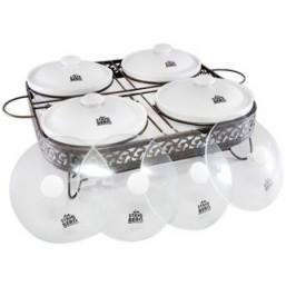 5870-S STAHLBERG Керамический мармит с 4мя стекл и 4мя керам крышками