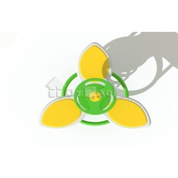 Качалка на пружине «Цветок» тройная КЧ-05