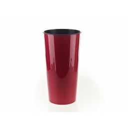 Кашпо Лилия 250мм, цвет бордовый  Польша