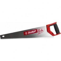 """Ножовка ЗУБР """"МАСТЕР"""" МОЛНИЯ по дереву, крупный зуб, двухкомпонентная ручка, шаг зуба 5мм, 400мм"""