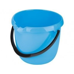 Ведро пластмассовое круглое 12л, голубое ТМ Elfe  92956