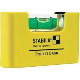 Уровень для электрика Stabila Pocket Basic on card with belt clip