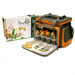 Набор для пикника CW Beer Master в подарочной упаковке (на 4 персоны, цвет серый с оранжевым, пивной