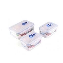 4547-S STAHLBERG Комплект герметичных пластиковых контейнеров для хранения продуктов 3шт (600ml*2, 1