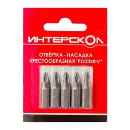 """Отвертка-насадка крестообразная """"Pozidriv"""" РZ2 110мм (3шт) Интерскол 2040411000020"""