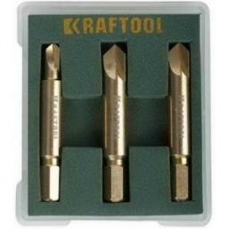 Набор экстракторов KRAFTOOL для выкручивания крепежа с износом граней шлица до 95%.PH1/PZ1,PH2/PZ2,P