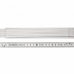Складной метр Stabila тип 1000, пластмассовый белого цвета, деление в см и мм на обоих краях