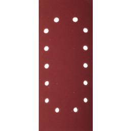 """Лист шлифовальный ЗУБР """"МАСТЕР"""" универсальный на зажимах, 14 отверстий по периметру, для ПШМ, Р80, 1"""