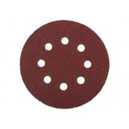 """Круг шлифовальный ЗУБР """"МАСТЕР"""" универсальный, из абразивной бумаги на велкро основе, 8 отверстий, 35562-125-120"""