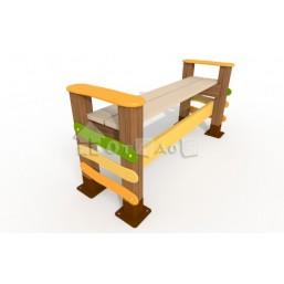 Скамейка без спинки «Робинзоны» МФ-12