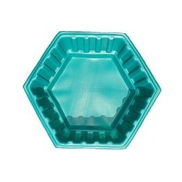 Клумба Шестигранник малый зеленая 50*50*26 см  (50 л)