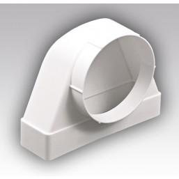 Соединитель угловой плоский канал-круглый канал Эковент 620СК10КП