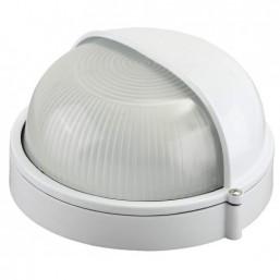 Светильник уличный СВЕТОЗАР влагозащищенный с верхним защитным кожухом, овал, цвет белый, 60Вт