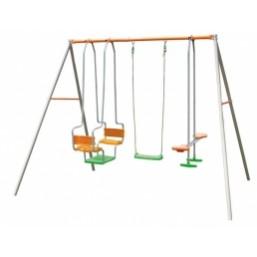 30014263  Детский комплекс (1лодочная кач.+2качели+1скутер) AX500P6