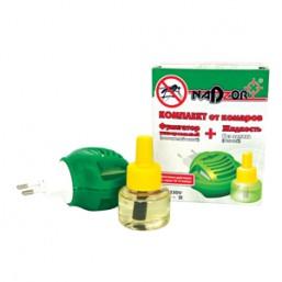 Комплект для уничтожения комаров:жидкость на 360 часов и универс. электрофумигатор Nadzor  3809