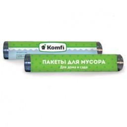 Пакет мусорный 70см x 110см для дома и сада в упаковке 120л Komfi/10шт 3707