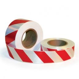 Лента для ограждений 75мм х 200м бело-красная неклейкая  MИЛЕН 2600