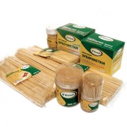 Шампур для шашлыка бамбук 200мм по 100 штук, A.D.M. 7885
