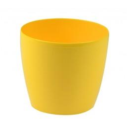 Горшок Магнолия 120мм без поддона, желтый