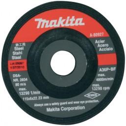 Шлифовальный диск изг. 115х6.0х22.23 по металлу A-80927 Makita