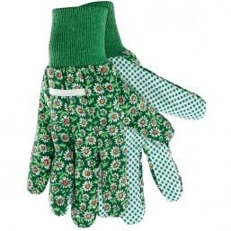 Перчатки садовые х/б ткань с ПВХ точкой, манжет, M  PALISAD 67762