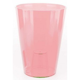 Кашпо Лилия 125х125мм, бесцветный, розовый, оранжевый  Польша