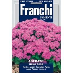 Агератум низкий розовый Nano Rosa (0,5 гр)  DBF 300/3   Franchi Sementi