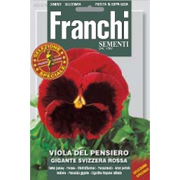 Анютины глазки Gigante Svizzera Rossa, красные (0,5 гр) VXF355/9   Franchi Sementi