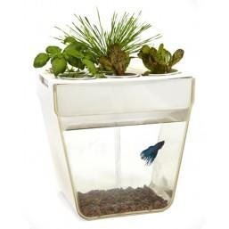 """Гидропонная установка """"Акваферма"""" , белый (добавь рыбку, посади семена, вырасти свой урожай)"""