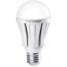 "Лампа СВЕТОЗАР светодиодная ""LED technology"", цоколь E27(стандарт), теплый белый свет (2700К), 220В,"