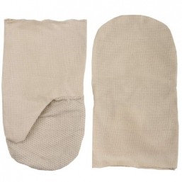 Рукавицы хлопчатобумажные, двунитка с защитой от скольжения ПВХ, XL