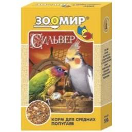 Сильвер д/мел. и сред. попугаев 500г  (1х15)