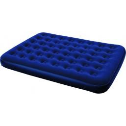 Кровать надувная Bestway Flocked Air Bed King (размер 203х185х22 см, цвет синий, интегрированная подушка, встроенный насос, ремнабор)