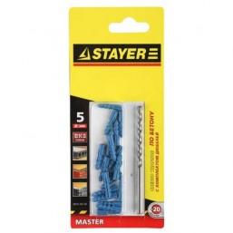"""Набор STAYER Свeрла """"MASTER"""" по бетону, 8мм, с дюбелями, 21 предмет"""
