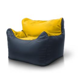 Кресло Boss серый желтый